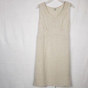 Motherhood Maternity Sleeveless Linen Dress Size L